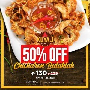 Kuya J Restaurant Chicharon Bulaklak for P130 (Save 50% Off) via Central Delivery
