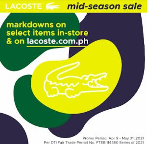 Lacoste - Mid-Season Sale