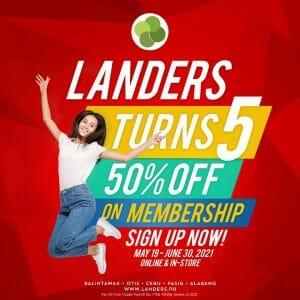 Landers - Get 50% Off on New Memberships and Renewals