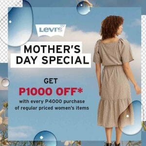 Levi's - Mother's Day Special: Get ₱1000 Off Promo