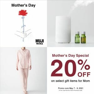 MUJI - Mother's Day Special: Get 20% Off on Select Items