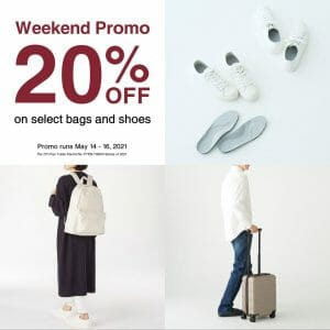 MUJI – Weekend Promo: Get 20% Off on Select Bags and Shoes