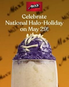 Max's Restaurant - National Halo-Holiday Promo: Get FREE Pinoy Cooler