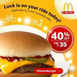 McDonald's - Get Cheeseburgers for P35 via Mcdo Ride-Thru