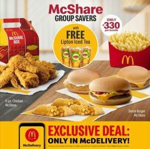 McDonald's - Get FREE Lipton Iced Tea for Every McShare Group Savers