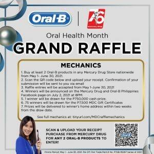 Mercury Drug and Oral-B Oral Health Month Grand Raffle