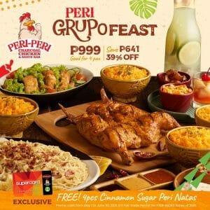 Peri-Peri Charcoal Chicken - Peri Grupo Feast for ₱999 (Save ₱641)