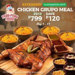 Peri-Peri Charcoal Chicken - Chicken Grupo Meal for P799 via GrabFood