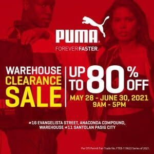 Puma - Warehouse Clearance Sale: Get Up to 80% Off
