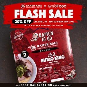 Ramen Nagi - Flash Sale: Get 30% Off on To Go Kits via GrabFood