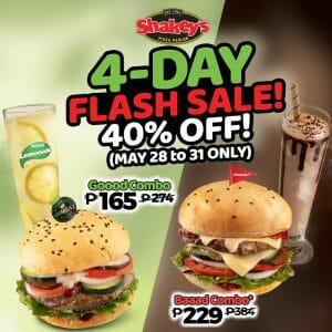 Shakeys 4 Day Sale Burger Bundles May21