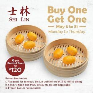 Shi Lin - Buy 1 Get 1 Custard Buns for P120