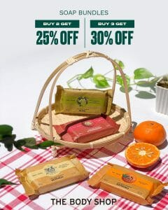 The Body Shop - Soap Bundles Promo: Get Up to 30% Off