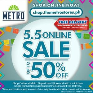 The Metro Stores - 5.5 Deal: Get Up to 50% Off on Online Purchases