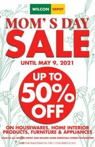 Wilcon Depot - Mom's Day Sale: Get Up to 50% Off