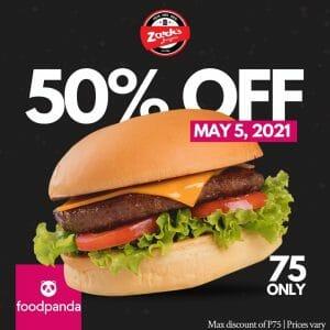 Zark's Burgers - Get 50% Off on Burgers via Foodpanda