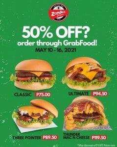 Zark's Burgers - Get 50% Off via GrabFood