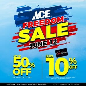 ACE Hardware - Freedom Sale: Get Up to 50% off on Selected Items