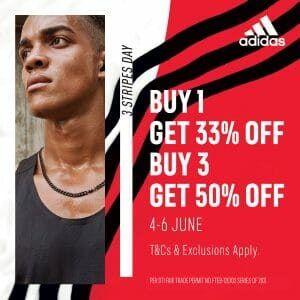 Adidas - 3-Stripes Day: Get Up to 50% Off