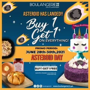 Boulangerie22 - Asteroid Day: Buy 1 Get 1 Promo