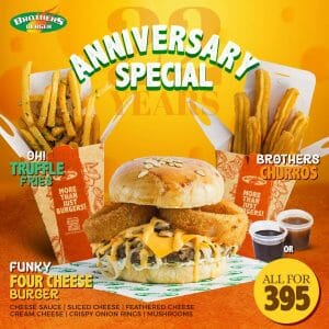 Brothers Burger - Anniversary Special for P395