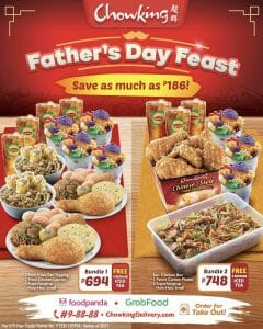 Chowking - Father's Day Feast: Save As Much As P186