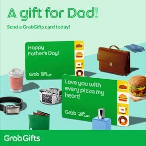 Send Dad the Gift of Grab with the GrabGifts Card