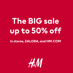 H&M - Big Sale: Get Up to 50% Off