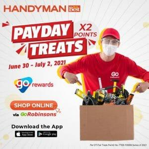 Handyman - Payday Treats: Earn Double Go Rewards Points via GoRobinsons