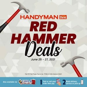 Handyman - Red Hammer Deals: Get Up to 30% Off on Select Items