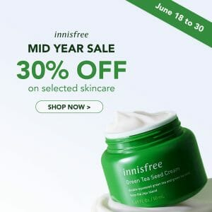 Innisfree - Mid Year Sale: Get 30% Off on Selected Skincare