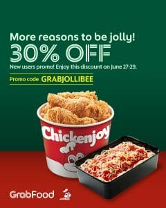 Jollibee - Get 30% Off via GrabFood