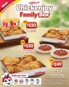 Jollibee - Chickenjoy Family Box As Low As P249