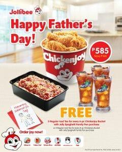 Jollibee - Father's Day FREE Iced Tea Promo