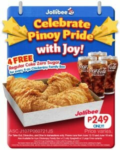 Jollibee - Independence Day Chickenjoy Promo for P249