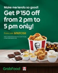 KFC - Get P150 Off via GrabFood