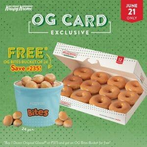 Krispy Kreme - Get FREE OG Bites Bucket of 24 (Save P235)