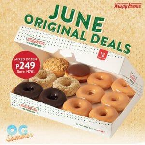 Krispy Kreme - June Original Deals for P249 (Save P176)