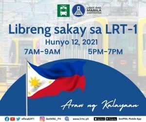Libreng Sakay sa LRT-1 on June 12