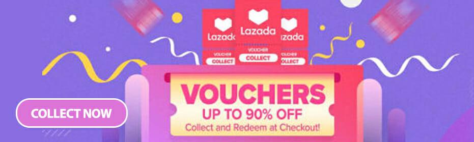Lazada Vouchers upto 90% Off