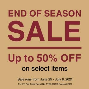 MUJI - End of Season Sale: Get Up to 50% Off on Select Items