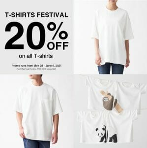 MUJI - T-shirts Festival: Get 20% Off on All T-shirts