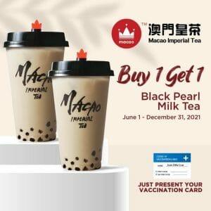 Macao Imperial Tea - Buy 1 Get 1 Black Pearl Milk Tea Vaccination Promo