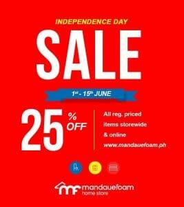 Mandaue Foam - Independence Day Sale: Get 25% Off on Regular-Priced Items