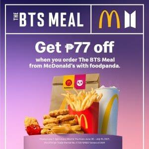 McDonald's - Get P77 Off The BTS Meal via Foodpanda