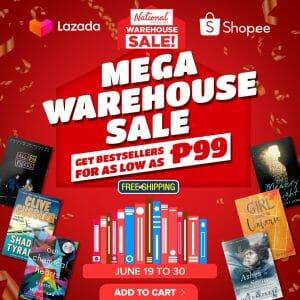 National Book Store - Mega Warehouse Sale via Lazada and Shopee