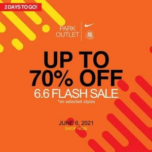Park Outlet - 6.6 Deal: Get Up to 70% Off on Selected Styles
