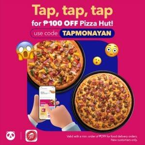Pizza Hut - Get P100 Off via Foodpanda