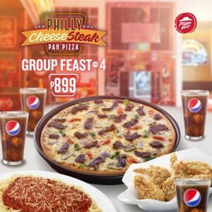 Pizza Hut - Philly Cheese Steak Group Feast for 4 for P899