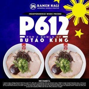 Ramen Nagi - 2 Bowls of Butao King for P612